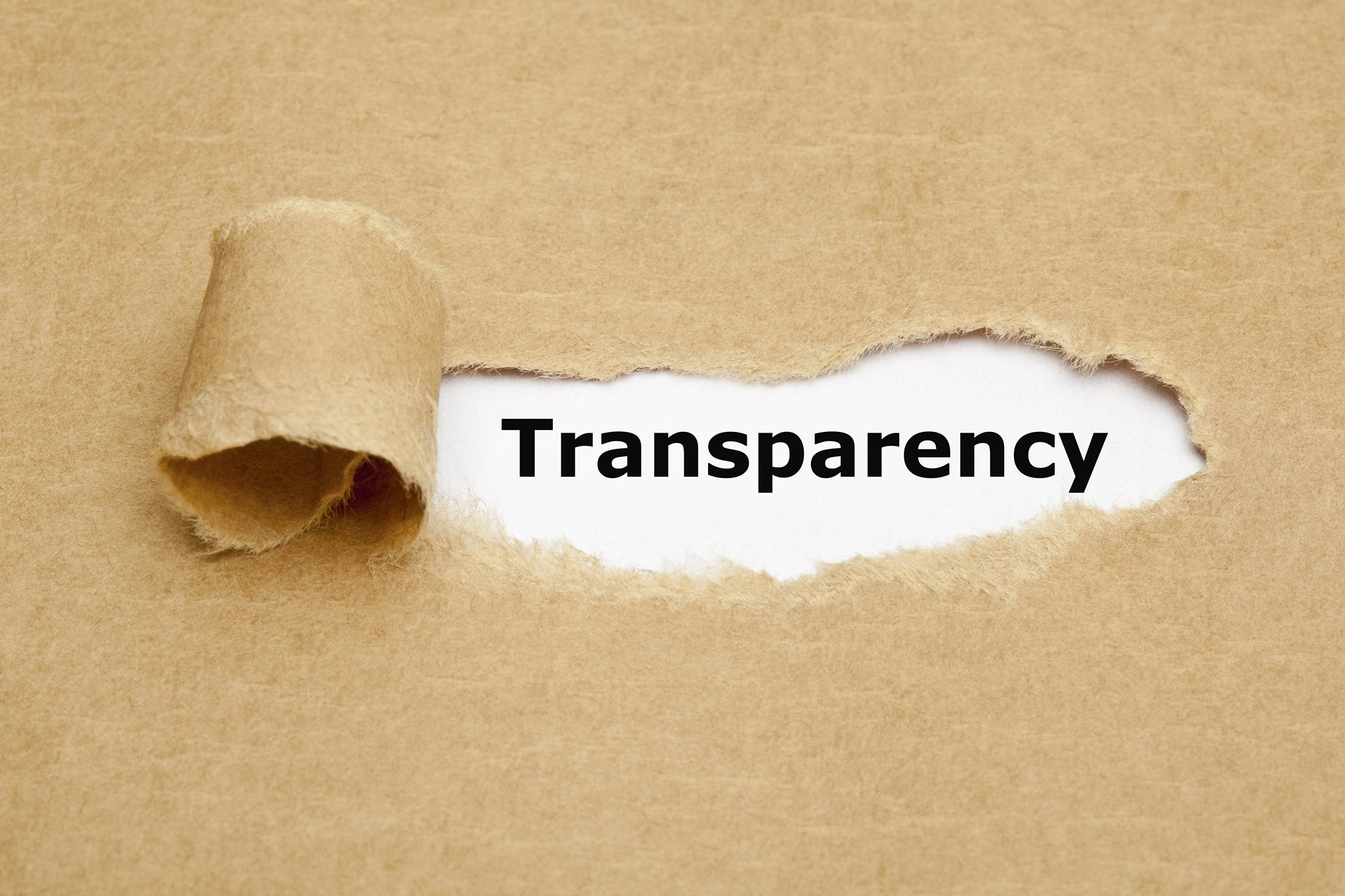 Without transparency there is no accountability